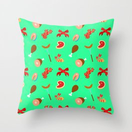 Meat Pattern Throw Pillow