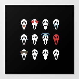 How Are You Today? - Screaming Emoji Canvas Print