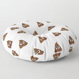 Cute smiling poop emoji Floor Pillow