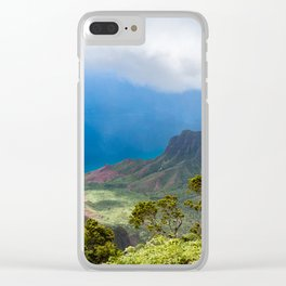 Kalalau lookout in Koke'e State Park - Kauai, Hawaii Clear iPhone Case