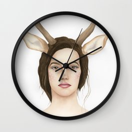 Lady Deer Wall Clock