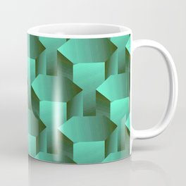 Stacked Emerald Jade Bolts Exotic Pattern Coffee Mug