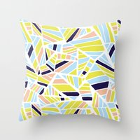 dave matthews Throw Pillows featuring Dave by Little Things Studio