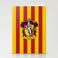 hogwarts Stationery Cards featuring Gryffindor - Hogwarts  by Kesen