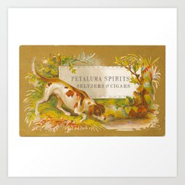 Petaluma Spirits Dog Trade Card Art Print