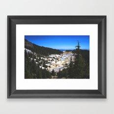 Bumpass Hell Pass Lassen Volcanic National Park Framed Art Print