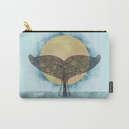 Sunset Whale Carry-All Pouch