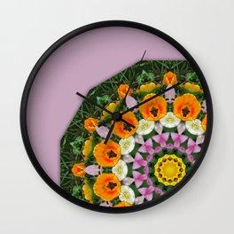 Tulips Nature, Flower-Mandala Wall Clock