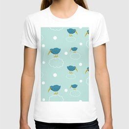 Kiwi birds on the clouds T-shirt