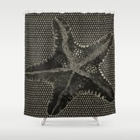starfish Shower Curtains featuring STARFISH by Mary Szulc