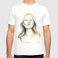 Blond girl White SMALL Mens Fitted Tee