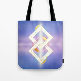 Linked Lilac Diamonds :: Floating Geometry Tote Bag