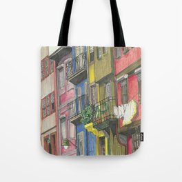 Penciled Cityscapes Tote Bag