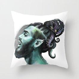 AfroAquaMan Throw Pillow