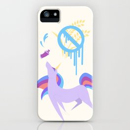 Graffiti Artist Coeliac Unicorn iPhone Case