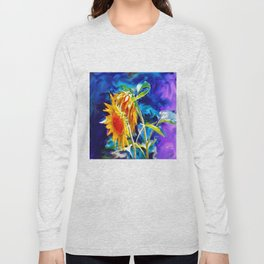 Sunflowers By Annie Zeno Long Sleeve T-shirt