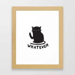 Whatever cat Framed Art Print