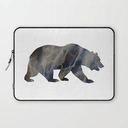 Marble Bear Silhouette Laptop Sleeve