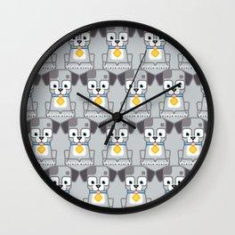 Super cute animals - Cute Grey Silver Puppy Dog Wall Clock