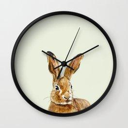 Mint hare I Wall Clock