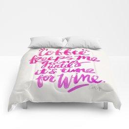 Coffee & Wine – Pink Ombré Comforters