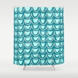 Mermaid Teal Pattern Shower Curtain