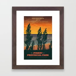 Pinery Provincial Park Poster Framed Art Print