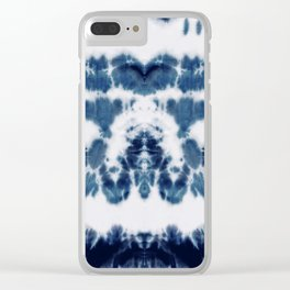 Shibori Not Sorry Clear iPhone Case