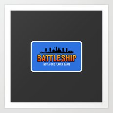 1 Player Battleship Art Print