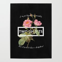 Harry Styles Two Ghosts graphic design Poster