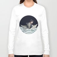 pirate ship Long Sleeve T-shirts featuring The Pirate Ship by Fizzyjinks