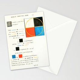 Euclidean joy Stationery Cards