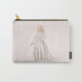 Grace Kelly Royal wedding dress - retro movies fashion - pinup - Hollywood Carry-All Pouch