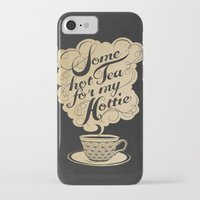hot iPhone & iPod Cases featuring Some Hot Tea For My Hottie by Laura Graves