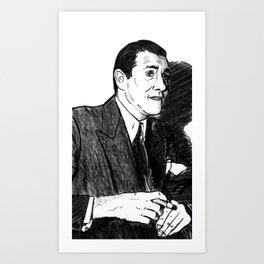"Portrait of Benjamin ""Bugsy"" Siegel (2) Art Print"