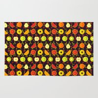 fruit Area & Throw Rugs featuring FRUIT by badOdds