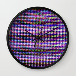 Violet Rays IV Wall Clock