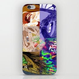 """""""Faces - Petty"""" by Blackard, Boehm, Fiche, Livengood, & McCarthy iPhone Skin"""