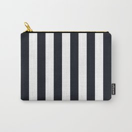 Vertical Stripes Black & White Carry-All Pouch