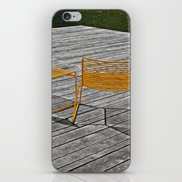 Yellow chairs iPhone Skin