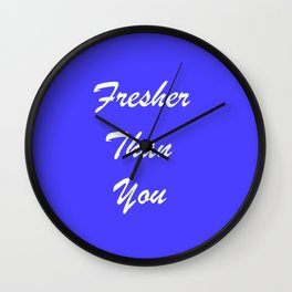 Fresher Thank You : Periwinkle Wall Clock