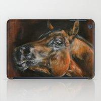 arab iPad Cases featuring arab horses face by Ironia Art
