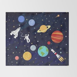 In space Throw Blanket