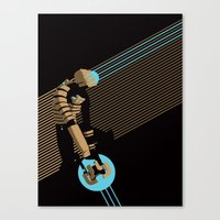 engineer Canvas Prints featuring The Engineer by Florey