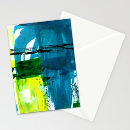 Teal Splendor No.1a by Kathy Morton Stanion Stationery Cards