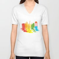 dreams V-neck T-shirts featuring Summer of Melted Dreams by Rachel Caldwell