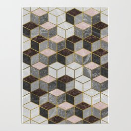 Marble Cubes Poster