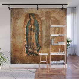 Antique Vintage Our Lady of Guadalupe Wall Mural