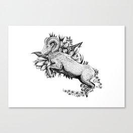 Goat  - Go Vegan Canvas Print