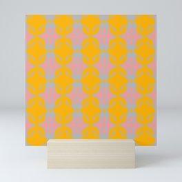 psychodelics colored seamless pattern Mini Art Print